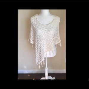 Crochet Poncho by Justice 16/18 Girl's
